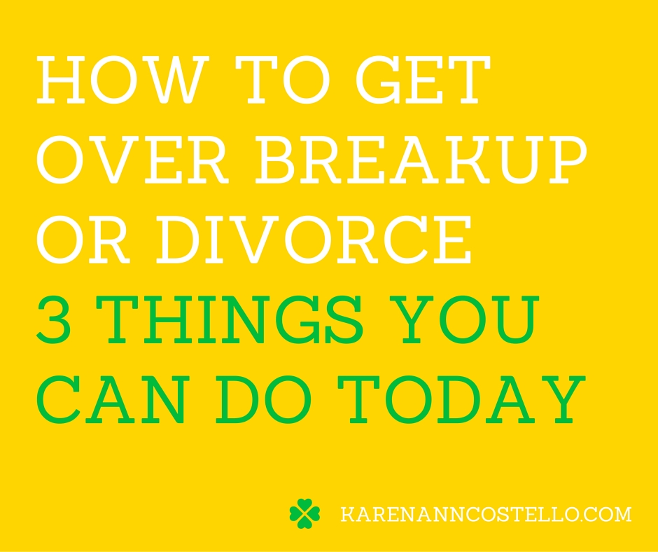 how to get over your first breakup
